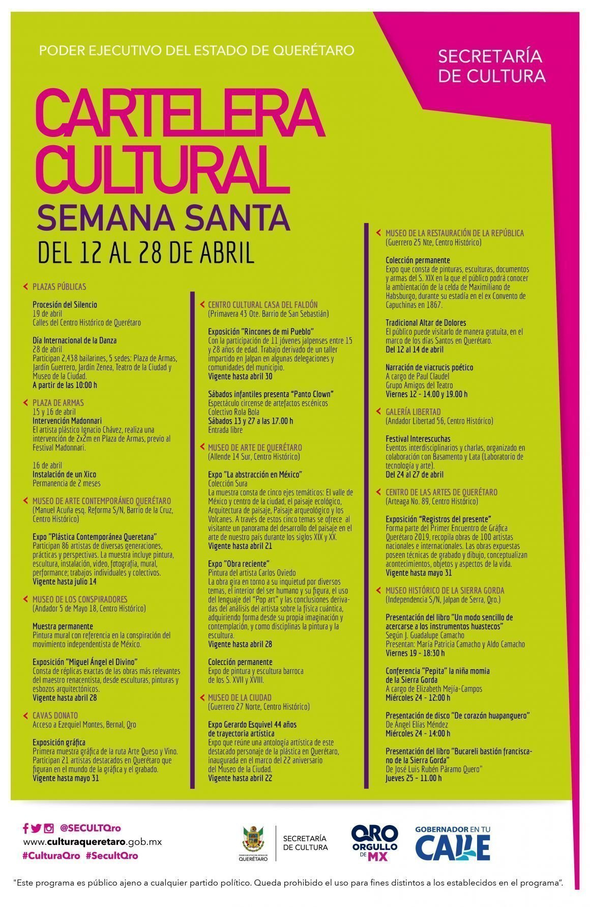Cartelera Cultural Semana Santa1