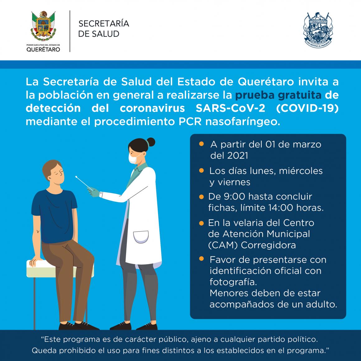 pruebas PCR gratuitas